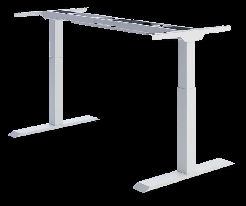 Biurko ergonomiczne do pracy stojące z ładowarką w blacie